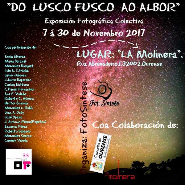 Exposicion fotografica Do lusco Fusco ao Albor